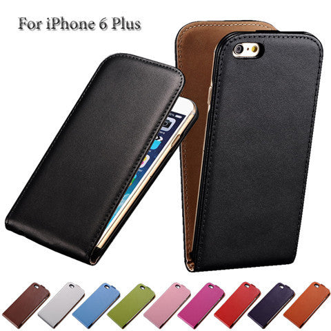 PU Leather Flip Case for iPhone 6 Plus