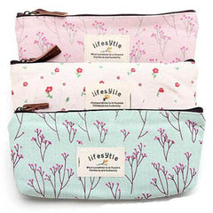 Floral Makeup Tool Storage Pouch - BoardwalkBuy - 1