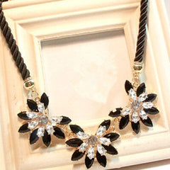 Flower Decoration Choker Necklace - BoardwalkBuy - 2