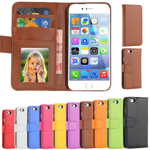 PU Stand Leather Case for iPhone 6 Plus