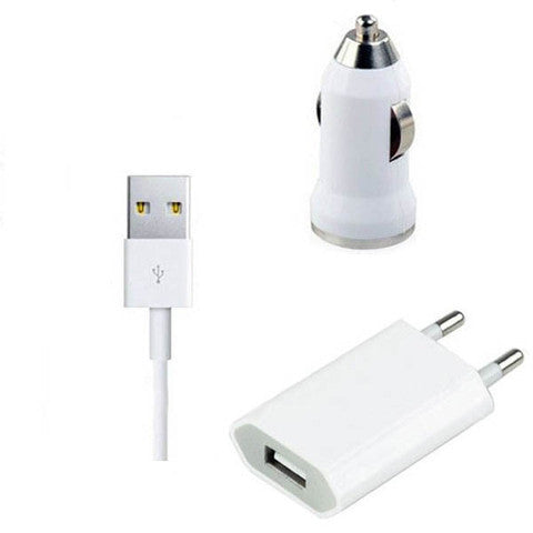 4In1Travel Kit Wall Charger&Datecable&Car Charger