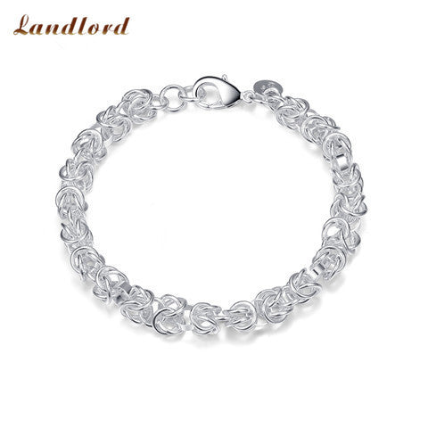925 Silver Fashion Jewelry New Faucet Bracelet