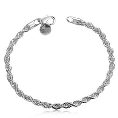 925 sterling silver couple chain bracelets - BoardwalkBuy - 1