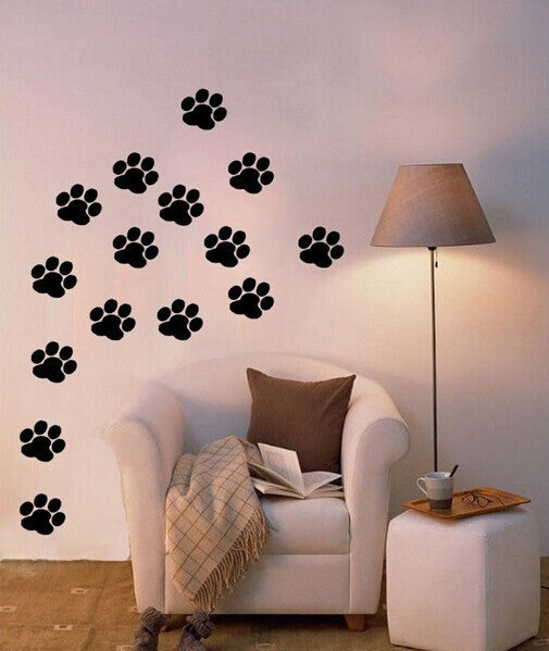 Paw Print Wall Stickers (20 pc. set) - BoardwalkBuy