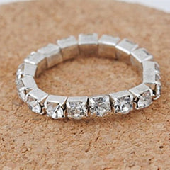 Full Crystal Rhinestone Finger Ring - BoardwalkBuy - 2