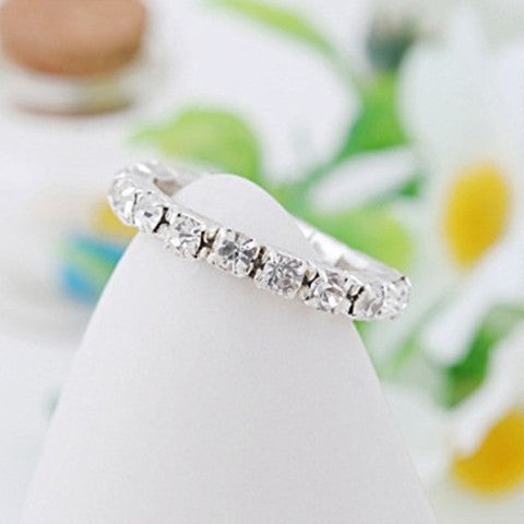 Full Crystal Rhinestone Finger Ring - BoardwalkBuy - 1