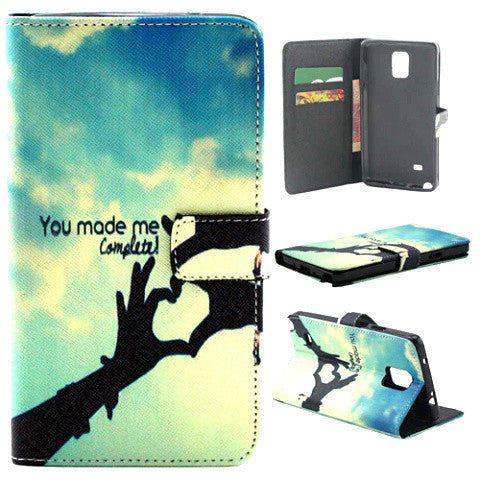 Wallet Leather Case For Samsung Note 4