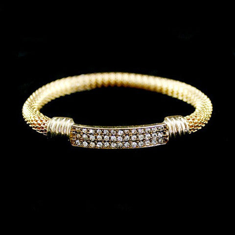 Rock Weaving  Rhinestone bracelet - BoardwalkBuy - 1