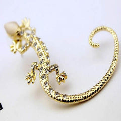 Gold and Silver Gecko Lizards Stud Earrings - BoardwalkBuy - 4