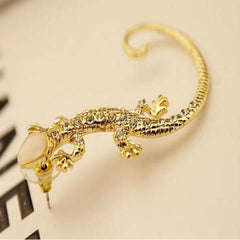 Gold and Silver Gecko Lizards Stud Earrings - BoardwalkBuy - 5