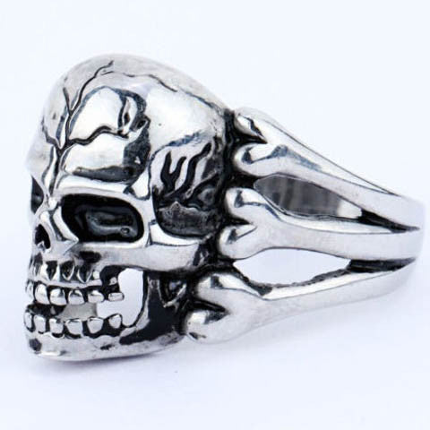 Gothic Men'S Skull Zinc Alloy Ring
