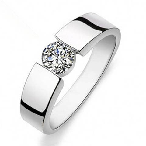 Natural Crystal Couple Silver Ring