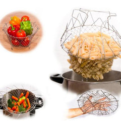 Foldable Fry Basket basket Kitchen Cooking Tool - BoardwalkBuy - 7