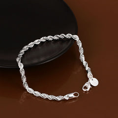 925 sterling silver couple chain bracelets - BoardwalkBuy - 4