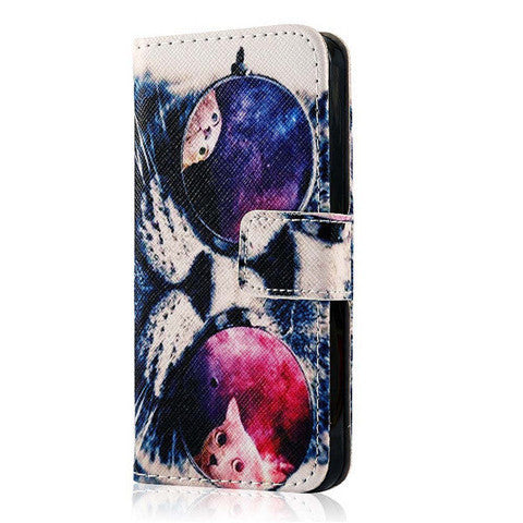 Pu Leather Flip Stand Case For Iphone 5