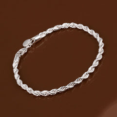 925 sterling silver couple chain bracelets - BoardwalkBuy - 5
