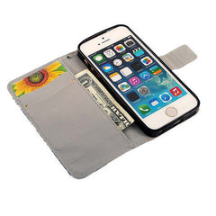 PU leather Flip Stand Case For iPhone 5 - BoardwalkBuy - 3