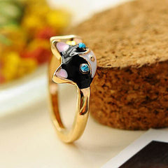 Women Enamel Cat Ring - BoardwalkBuy - 4