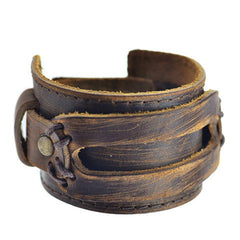 Handmade Genuine Leather Fashion  Bracelets & bangle - BoardwalkBuy - 4