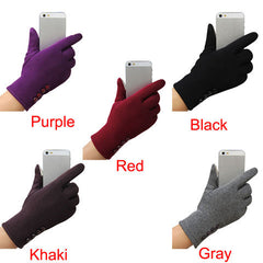 Women's Fashion 4 button touch screen warm gloves - BoardwalkBuy - 3