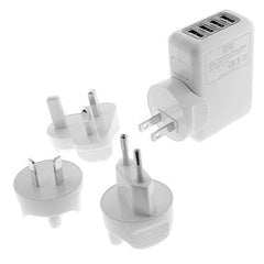 5V 2.1A 4 Ports Universal Wall USB Charger - BoardwalkBuy - 2