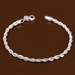 925 sterling silver couple chain bracelets - BoardwalkBuy - 3