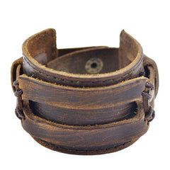 Handmade Genuine Leather Fashion  Bracelets & bangle - BoardwalkBuy - 3