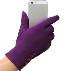 Women's Fashion 4 button touch screen warm gloves - BoardwalkBuy - 5