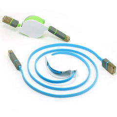 Retractable 2in1 Micro USB&Lightening Data Cable 1m - BoardwalkBuy - 8