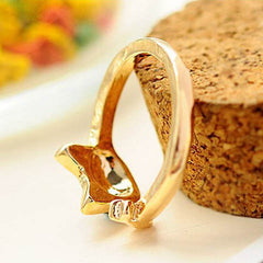 Women Enamel Cat Ring - BoardwalkBuy - 5