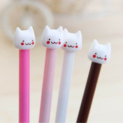 Stationary Ink Black Cute Small Cat Gel Pen