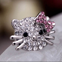 Hello Kitty Diamond Cat Ring - BoardwalkBuy - 2