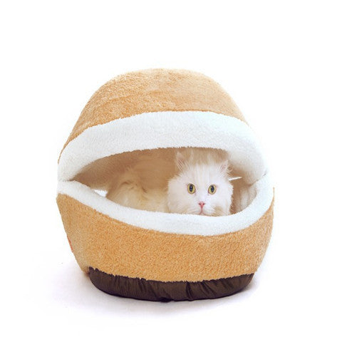 Warm  Bed  Shell  Cat Kennel Hamburger Hiding Windproof House
