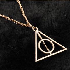 Harry Potter Deathly Hallows Triangle Metal Pendant Necklace - BoardwalkBuy - 3