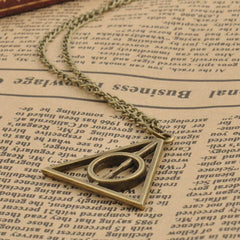 Harry Potter Deathly Hallows Triangle Metal Pendant Necklace - BoardwalkBuy - 4