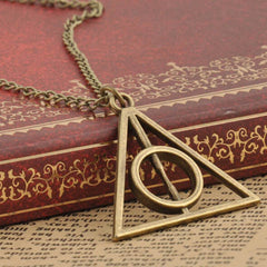 Harry Potter Deathly Hallows Triangle Metal Pendant Necklace - BoardwalkBuy - 2