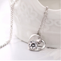 Precious Moment Silver Heart Necklace - BoardwalkBuy - 2