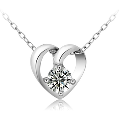 Precious Moment Silver Heart Necklace - BoardwalkBuy - 1