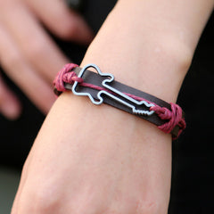 Hollow Guitar Leather Bracelet - BoardwalkBuy - 3
