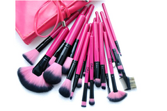 Hot Pink 24 Piece Make Up Brush Set - BoardwalkBuy - 3
