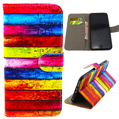 Rainbow Stripe Leather Case for iPhone 6 Plus - BoardwalkBuy - 1