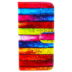 Rainbow Stripe Leather Case for iPhone 6 Plus - BoardwalkBuy - 4