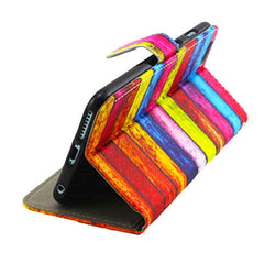 Rainbow Stripe Leather Case for iPhone 6 Plus - BoardwalkBuy - 3