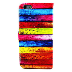 Rainbow Stripe Leather Case for iPhone 6 Plus - BoardwalkBuy - 5