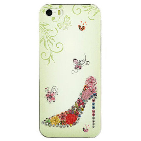 Crystal Shoes Pattern Hard Case for iPhone 5