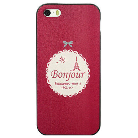 Silicone Bumper Pc Hard Case For Iphone 5
