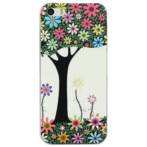 Flower Tree PC Hard Case for iPhone 5 5S