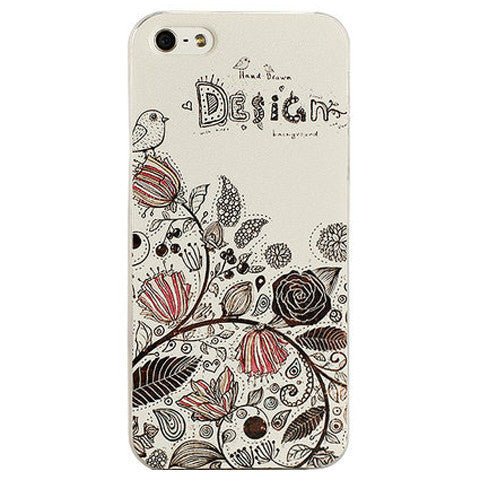 Blossom Hard Embossed Case for iPhone 5
