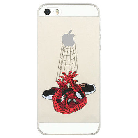 Spide Man TPU Painted Case for iPhone 5