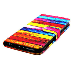 Rainbow Stripe Leather Case for iPhone 6 Plus - BoardwalkBuy - 2